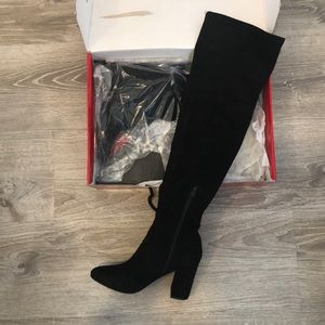GUESS Suede Over the Knee Boots